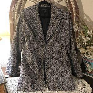 August Silk Blazer Black and Grey  Size 12 Lined